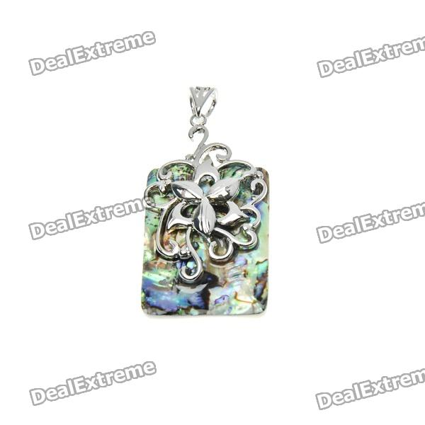 Trendy Square Shaped Abalone Shell Pendant