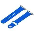 Silicone Smart Watch Strap With Connectors for Apple Watch 42mm - Blue