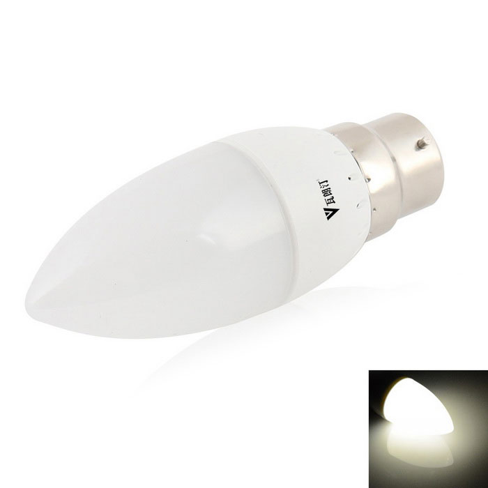 WaLangTing B22 3.5W Candle Bulb Lamp Cool White 9-SMD LED - White