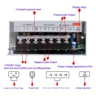 DC 12V 16.7A 200W Switching Power Supply for LED Strip - Silver