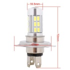 MZ H4 13.5W LED voiture Phare Blanc 6500K 810lm 27-SMD-Argent