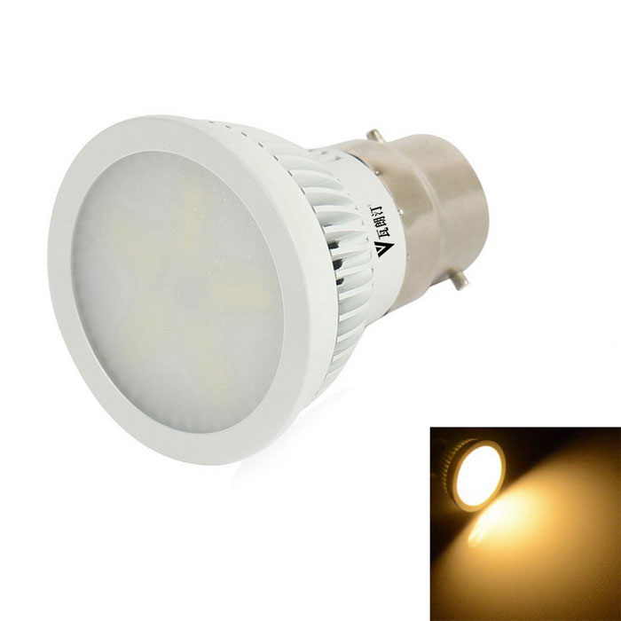 WaLangTing B22 6W 3200K LED Spotlight Bulb Warm White 15-SMD - White