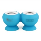 CKY RS218 Cute Wireless Rechargeable Mini Bluetooth V3.0 Speaker w/ Microphone - Blue + White