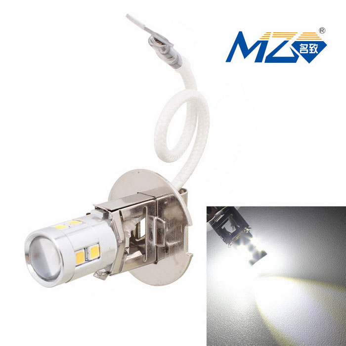 MZ H3 5W Canbus Error-Free Car LED Front Fog Lamp White Light 500lmTail Lights<br>ModelN/AQuantity1 DX.PCM.Model.AttributeModel.UnitMaterialAluminumForm ColorSilverEmitter TypeOthers,2323 SMD LEDChip BrandOthers,N/AChip Type2323 SMD LEDTotal Emitters10Power5WColor Temperature6500 DX.PCM.Model.AttributeModel.UnitTheoretical Lumens600 DX.PCM.Model.AttributeModel.UnitActual Lumens500 DX.PCM.Model.AttributeModel.UnitRate Voltage12~18VWaterproof FunctionNoConnector TypeH3ApplicationFoglightPacking List1 x LED bulb<br>