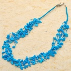 Natural Russian Blue Turquoise Gemstone 5-Strand Necklace
