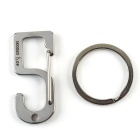 Lucky Number 5 Style Stainless Steel Keychain - Silver