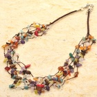 Natural Multigem 5-Strand Necklace