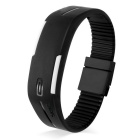 SKMEI Water Resistant Lodestone Strap LED Electronic Bracelet Watch - Black