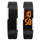 SKMEI Water Resistant Lodestone Strap LED Bracelet Watch - Black
