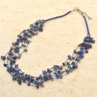 Natural Lapis Lazuli Gemstone 5-Strand Necklace