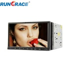 Rungrace 7-inch 2 Din TFT Screen In-Dash Car DVD Player With BT, GPS,R DS, ATV - Black