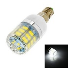 E14 6W LED Lamp Bulb White Light 360lm 46-SMD 2835 6500K - White + Silver (AC 220V)