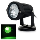 3W COB LED Lawn / Courtyard Light / Spotlight Green Light 530nm 110lm - Black (12V)