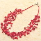 Red American Spirit AAA Quality Red Coral 5-Strand Necklace