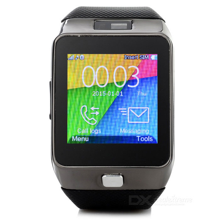 "AW8 GSM Watch Phone w/ 1.5"" Touch Screen, 64MB RAM, 128MB ROM - Black"