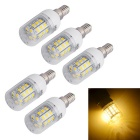 JIAWEN E14 6W LED Corn Light Warm White 3200K 600lm 30-5730 SMD (AC 220V / 5 PCS)