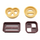 4-in-1 Classical Crackie Biscuit Moulds - Coffee + Beige