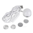 USB 3W 6-LED White Light Night Lamp w/ Magnet - White (DC 5V)