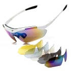 ROBESBON Resin Lens PC Frame UV Polarized Sunglasses - White