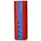 Portable USB 4-Port Fast-Lade Intelligent Power Charger - Red (US Stecker)