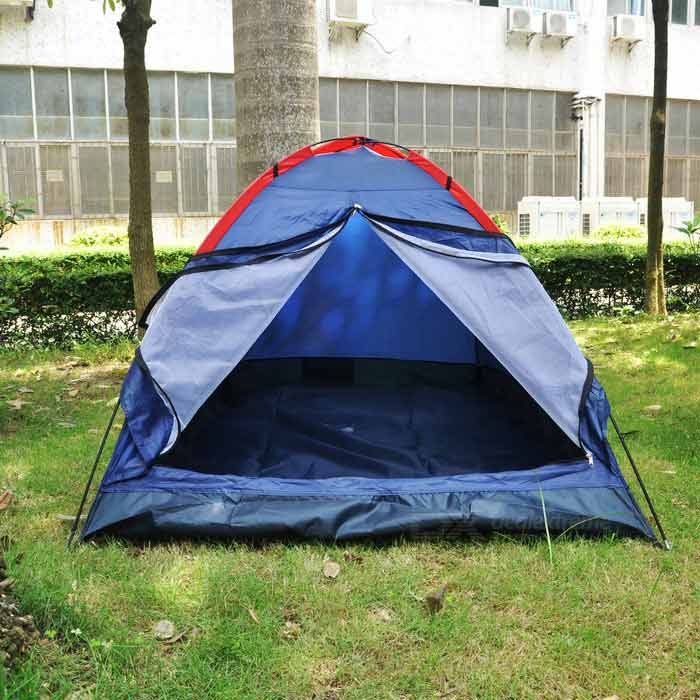 Navy Blue Single Layer Outdoor C&ing Tent for Two Persons - Deep Blue & Navy Blue Single Layer Outdoor Camping Tent for Two Persons - Deep ...