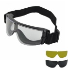 Replaceable Lenses Protection Sunglasses - Black + White
