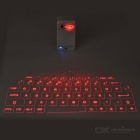 Projection Bluetooth V3.0 + HS 32-Key QWERTY Red Laser Keyboard for Phones / Tablets - White