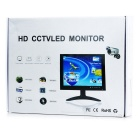 "10"" HD LED coche Monitor CCTV Displayer w / Stand - negro"