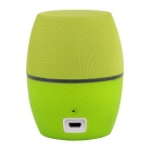 CKY Djembe Portable Wireless Mini Bluetooth V3.0 Speaker w/ Microphone - Grass Green