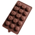 Bakeware Silicone Flowers Shaped Baking Molds for Chocolate Cake Jelly - Coffee