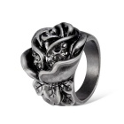 Cool Women's Rose Style Alloy Ring - Bronze + Black (US Size 8)