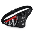 LOCAL LION Outdoor Sports Gadgets Storage Waist Bag w/ Water Bottle Compartment - Black