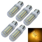 JIAWEN E27 9W LED Corn Light Warm White 3200K 720-900lm 56 x 5730 SMD (AC 220V / 5 PCS)