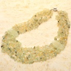 Fabulous Green Moss Prehnite Gemstone Beads Necklace
