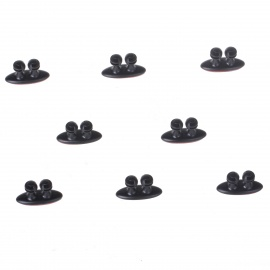 ABS Wire Cable Organizing Clips w/ Adhesive Tape - Black (8PCS)
