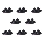 Convenient ABS Wire Cable Organizing Clips w/ Adhesive Tape - Black (8 PCS)