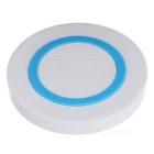 Qi Wireless Charger Pad for Samsung Galaxy S6 - White + Light Blue