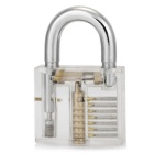 Single-Hook Transparent Lock Key w/ Locksmith Tools