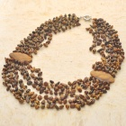 Queen Design Tiger Eye Gemstone Beads Necklace