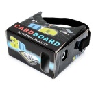 "DIY Google Virtual Reality Carton Board 3D Glasses for NFC 4.5"" Mobile Phones - Black + White"