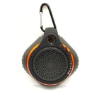 Outdoor Waterproof Bluetooth 2.1+EDR Speaker w/ Mic. & TF Card Slot & Carabiner - Black + Orange