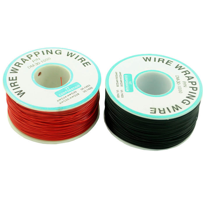 DIY PCB Copper Core Jumper Cable Wire Single Conductor Coil - Black + Red (250m)DIY Parts &amp; Components<br>Quantity2 DX.PCM.Model.AttributeModel.UnitForm ColorBlack + RedMaterialCopperEnglish Manual / SpecNoOther FeaturesWorking temperature limit of 150C; Maximum resistance: 140 ohms/1km (20C); Pressure 100V.CertificationNOPacking List2 x PCB jump wires<br>