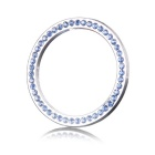 One-Key Engine Start Chrome Rhinestone Decoration Ring - Silver + Blue