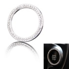 One-Key Engine Start / Stop Chrome Rhinestone Decoration Ring - Silver (40mm / 32mm)