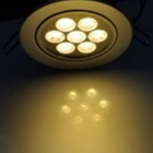 YouOKLight 7W 7-LED Warm White Ceiling Lamp w/ Driver - Silver (4PCS)