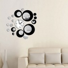 Hot Sale Fashion Removable Clock Mirror Style DIY Art Wall Stickers Decal Mural for Home Decor