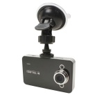"Original Novatek K6000 2.7"" inch 140 Degree FHD 1080P Vehicle Camera w/ LED Night Vision - Black"