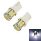 Carking T10 10-SMD 7014 White Light Car LED Rome Lamp / Clearance Lamp (12V / 2 PCS)