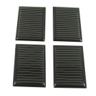 DIY 0.16W 5.5V 30mA Solar Panel - Black (4 PCS)
