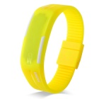 SKMEI Water Resistant Lodestone Strap LED elektronische Armbanduhr - Light Yellow (1 x LR1130)